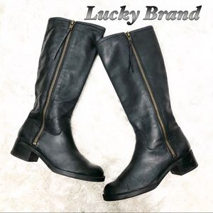 Lucky Brand Leather Knee Hi riding boots 8.5